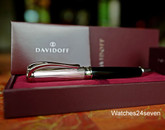 DAVIDOFF WRITING INSTRUMENT BALL POINT SILVER & BLACK LACQUER GB
