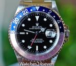 Rolex Master II GMT Faded Pepsi Bezel 40mm