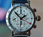 Chronoswiss Timemaster GMT Chronograph Date Automatic Silver Dial