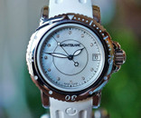 Montblanc Ladies Sport Auto Date Mother of Pearl  & Diamond Dial