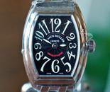 Franck Muller Ladies Conquistador Quartz Black Dial on Bracelet