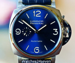 PANERAI PAM 729 LUMINOR DUE BLUE 3 DAYS AUTOMATIC TITANIO  45MM
