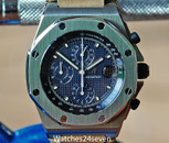Audemars PIguet ROO Chronograph Blue Dial 42mm Box & Papers
