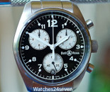 Bell & Ross Vintage 120 Chronograph in stainless steel 38mm