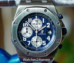 Audemars Piguet Royal Oak Offshore Chronograph Blue Panda on Bracelet 42mm