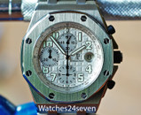 Audemars Piguet Royal Oak Offshore Chronograph Silver White Dial 42mm