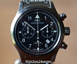 IWC Fleigerchronograph Battery Quartz Stainless Steel 36mm