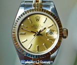 Rolex Datejust 2 Tone Champagne Stick Dial Fluted & Jubilee 26mm 8.6m ON HOLD