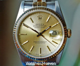 Rolex Datejust 2 Tone Champagne Tapestry Dial Jubilee Brac 36mm Ref. 16233