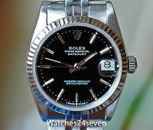 Rolex Datejust Steel Black Dial Fluted Bezel Jubilee Brac 31mm Ref. 68274
