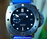 PANERAI PAM 1305 LUMINOR SUBMERSIBLE 1950 3 DAYS AUTO TI 47MM