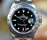 ROLEX EXPLORER II GMT RED HAND BLACK DIAL 39MM