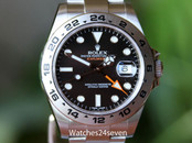 Rolex Explorer II Black Dial Orange Hand Steel 42mm Ref. 216570