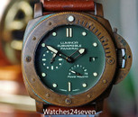 PANERAI PAM 507 LUMINOR SUBMERSIBLE 3 DAYS POWER RES AUTO BRONZO LTD 47MM