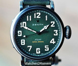 Zenith Pilot Automatic Green Dial Monire D' Aeronef LTD 40mm
