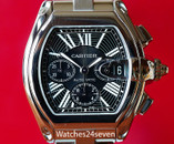 Cartier Roadster XL Chronograph Automatic Date Black Dial 47mm