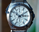 IWC Ingenieur Double Chronograph Silver Dial Rubber Strap Automatic Day Date