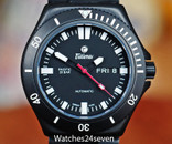 Tutima Pacific Military PVD Black 20 Bar Automatic Day Date, Ref. 677-31