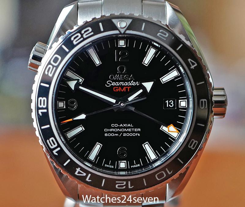 Omega Seamaster Planet Ocean Gmt Steel Black Dial On