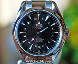 OMEGA Seamaster Aqua Terra GMT Automatic Black Dial Stainless Steel 43mm