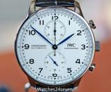 IWC Portugues Chronograph Enamel & Blued Dial 150th Anniversary LTD 41mm