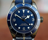 Tudor Heritage Black Bay Bronze Blue Dial Bucherer LTD 43mm