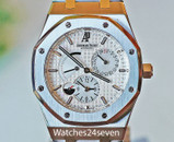 Audemars Piguet Royal Oak Dual Time White Dial Stainless Steel 39mm