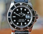 Rolex Submariner Automatic Date Ceramic Bezel Steel 40mm on Strap