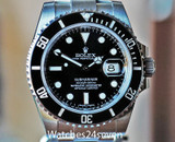 Rolex Submariner Automatic Date Ceramic Bezel Steel Oyster Bracelet 40mm