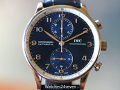 IWC Portugues Chronograph Blue Dial Laureus LTD 41mm