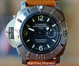 Panerai PAM 358 Submersible Titanium Destro 2500 Meters Chronopassion LTD, 47mm