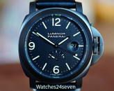 Panerai PAM 28 L Luminor Marina Power Reserve Hobnail Dial PVD 44mm