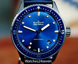 Blancpain Fifty Fathoms Bathyscaphe Midnight Blue Dial Ceramic 43mm