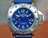 Panerai PAM 87 D Submersible Steel 1000 Meter Light Blue Dial 44mm