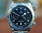 Tudor Heritage Black Bay Chronograph Steel Watch 42mm