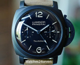 Panerai PAM 396 LUMINOR 1950 TOURBILLON GMT AUTO CERAMICA 48MM