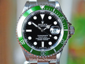 Rolex Submariner Anniversary Edition Green Bezel Black Dial Kermit 40mm