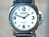 Panerai PAM 561 Luminor Base 8 Days White Dial 44mm