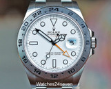 Rolex Explorer GMT Orange Hand White Dial 42mm