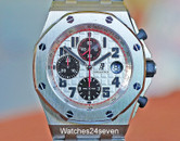 Audemars Piguet Royal Oak Offshore Chrono Silver Panda on Bracelet 42mm