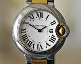 CARTIER Ballon Bleu Ladies Two Tone Yellow Gold & Steel 28mm