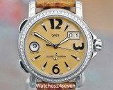 ULYSSE Nardin San Marco 223-22 GMT 36mm Diamond Bezel Peach Dial