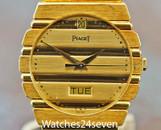 Piaget Polo Quartz Day & Date 18K Yellow Gold on Bracelet 31mm