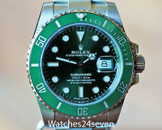 "Rolex Submariner Green Ceramic Bezel & Dial ""HULK"" 40mm"