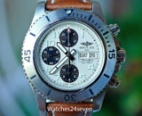 Breitling Superocean Steelfish Chronograph Automatic Cream Panda Dial 44mm