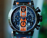 BRM V8 Chronograph Automatic Limited Edition Gulf Racing Watch 44mm