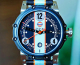 BRM BT6 Carburator Style Titanium PVD Limited Edition Gulf Watch 44mm
