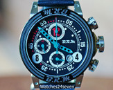 BRM V8 Automatic Date Chronograph Black Blue & Teal Checkered Flag 44mm