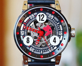 BRM V6-44 SPORT Automatic Skeleton Black & Red