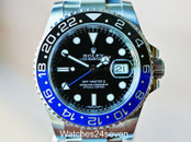 ROLEX GMT MASTER II CERAMIC BLACK & BLUE on OYSTER, BLNR, ON HOLD